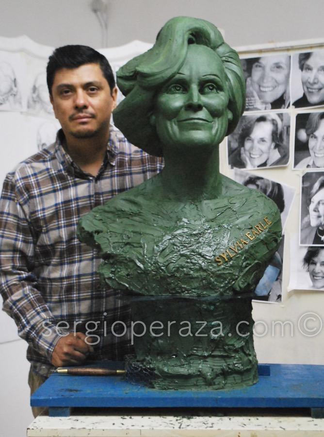 Escultura Sylvia Earle