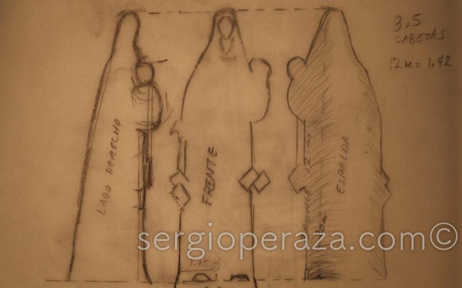 01-Muchos-Dibujos-Previos-Como-Este-Fueron-Dibujados-En-Cudernos-Y-Papel-En-Abundancia-Sergio-Peraza-Artista-Escultor