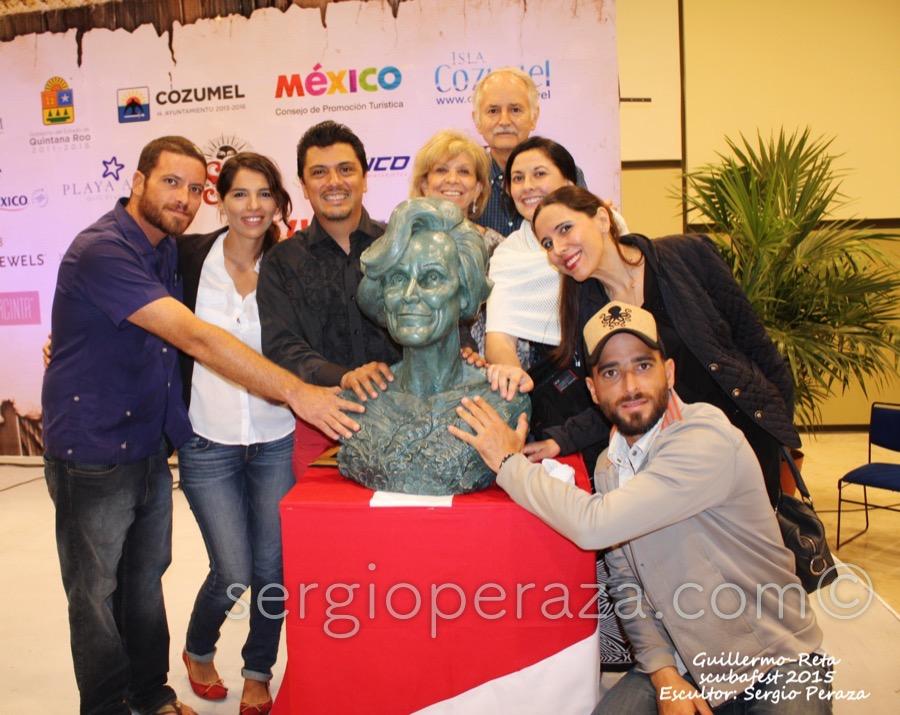 Develacion Busto Escultorico Sylvia Earle 15 Sergio Peraza Artista Escultor