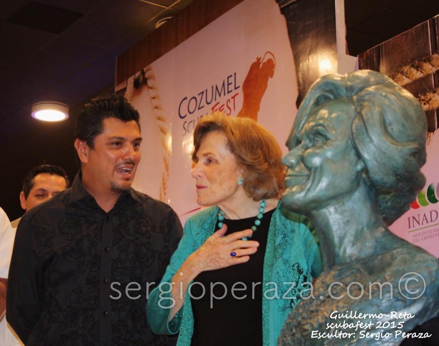 Develacion Busto Escultorico Sylvia Earle 6 Sergio Peraza Artista Escultor