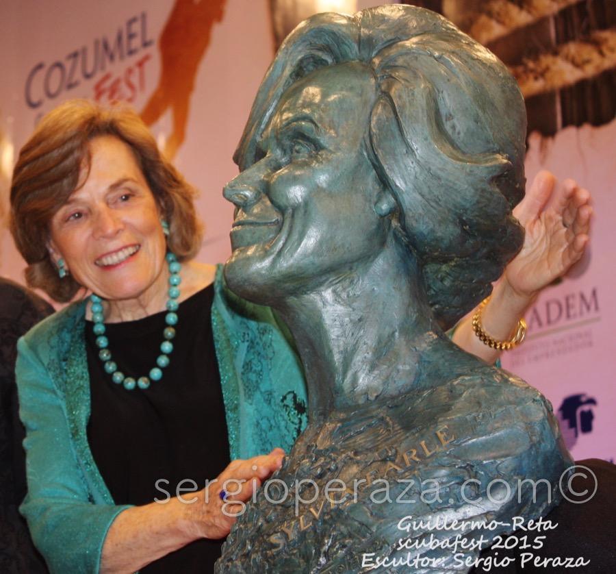 Develacion Busto Escultorico Sylvia Earle 8 Sergio Peraza Artista Escultor