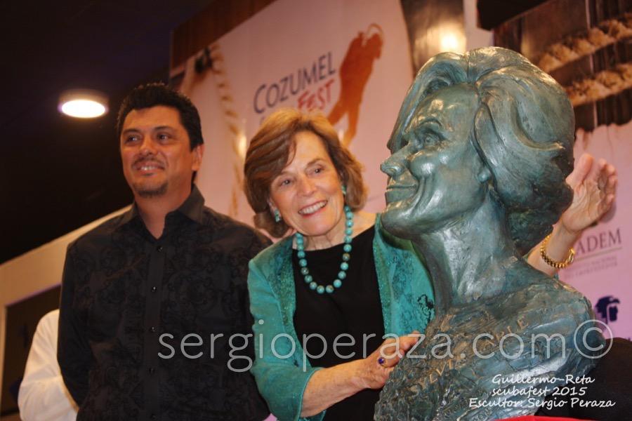 Develacion Busto Escultorico Sylvia Earle 9 Sergio Peraza Artista Escultor