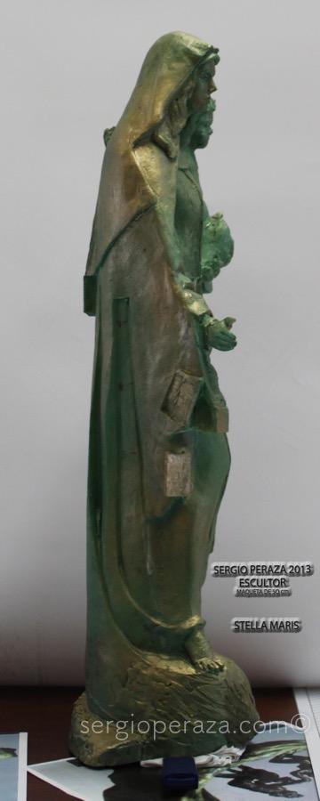 Virgen costado derecho Sergio Peraza Artista Escultor Sergio Peraza Artista Escultor
