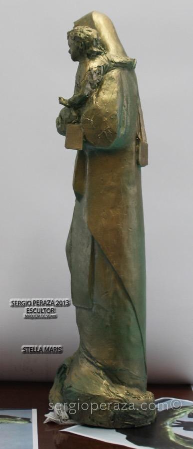 Virgen costado izquierdo Sergio Peraza Artista Escultor Sergio Peraza Artista Escultor