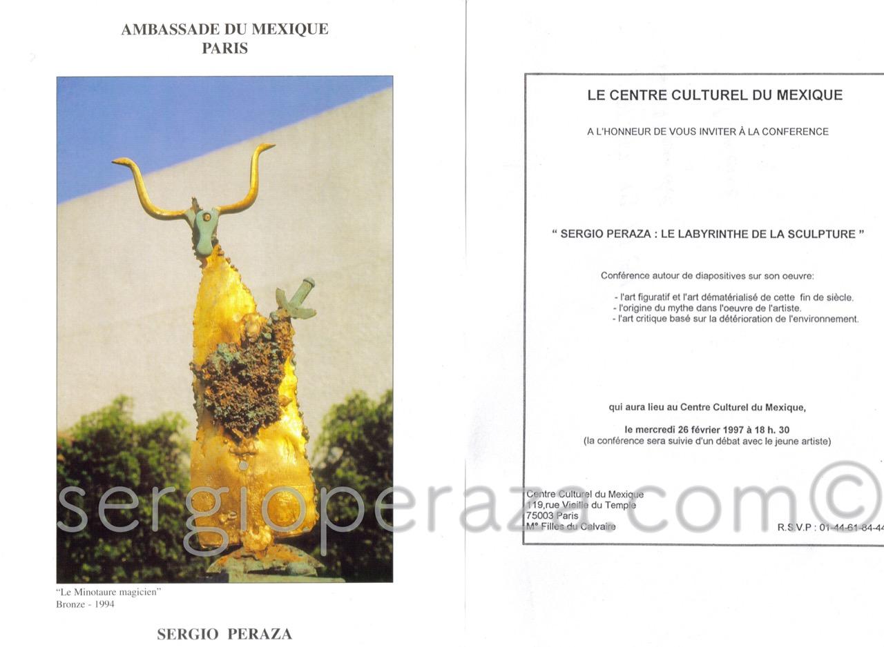 Centre Culturel Du Mexique Sergio Peraza Artista Escultor