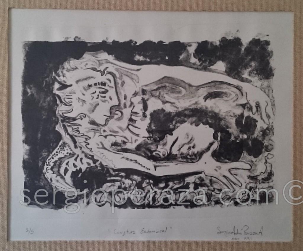Conjetura Estomacal Grabado Sergio Peraza Artista Escultor