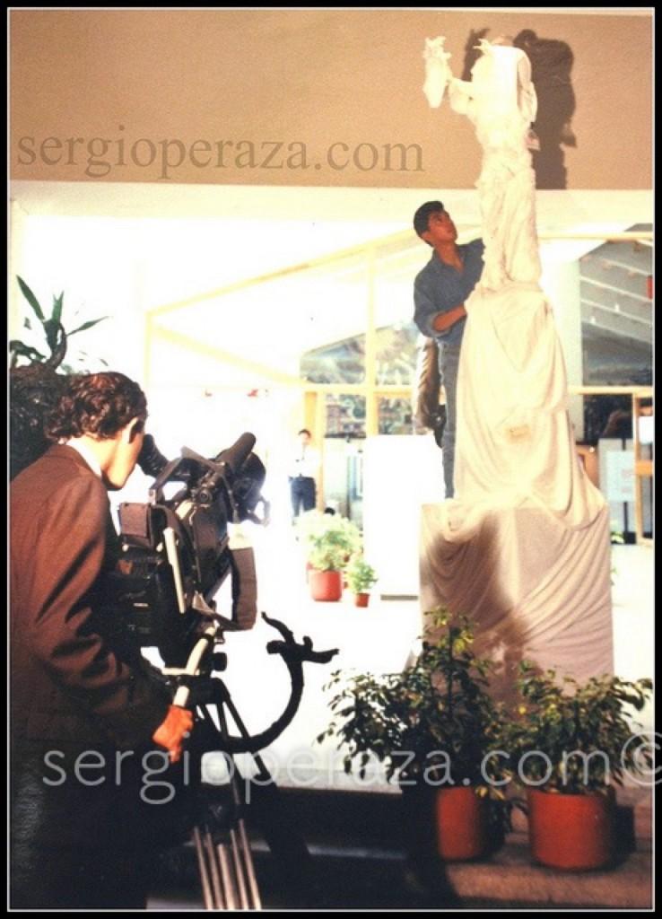 Escultura Supuesta. Papel Higienico Y Tela Sergio Peraza Artista Escultor