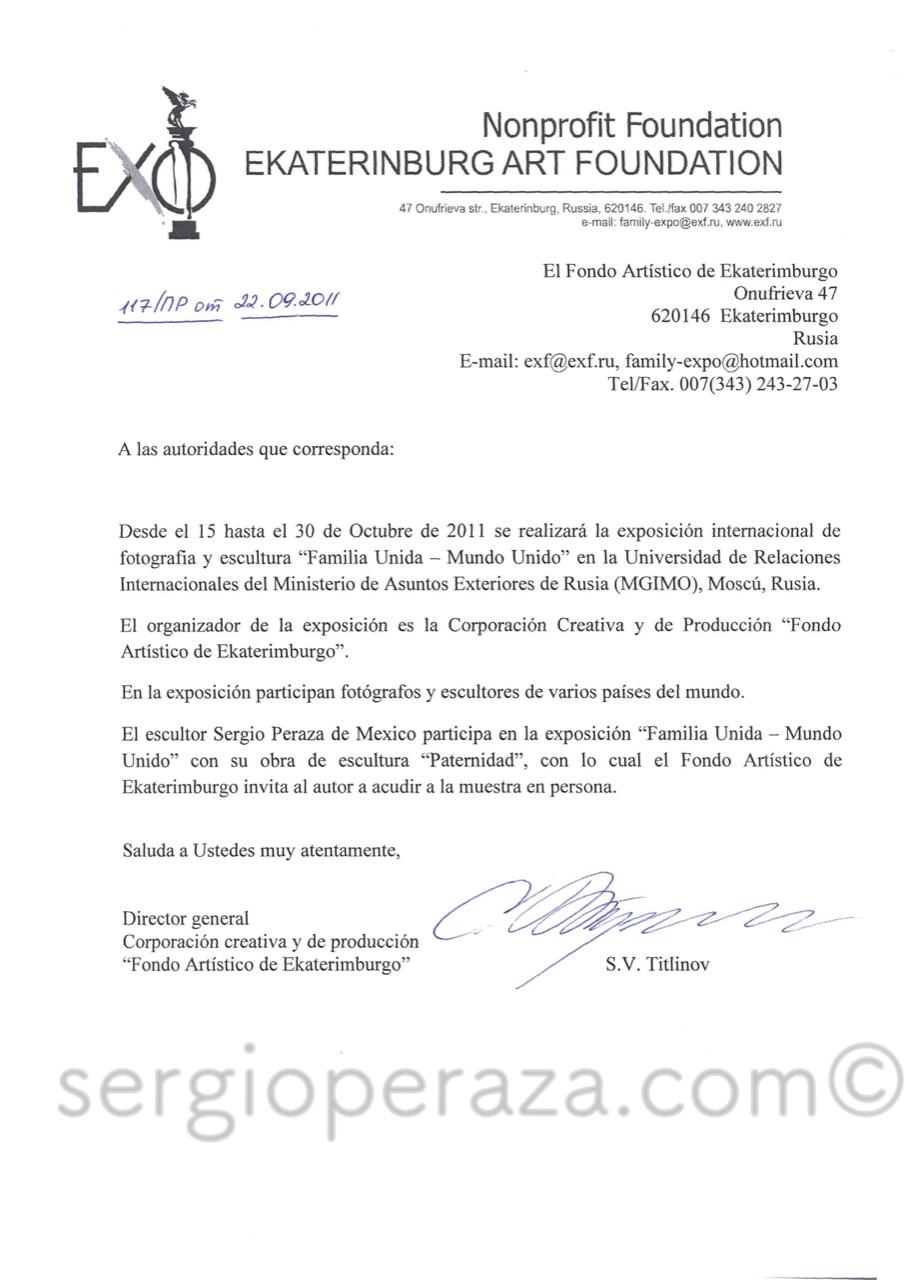 Invitacion A Sergio Peraza Sergio Peraza Artista Escultor