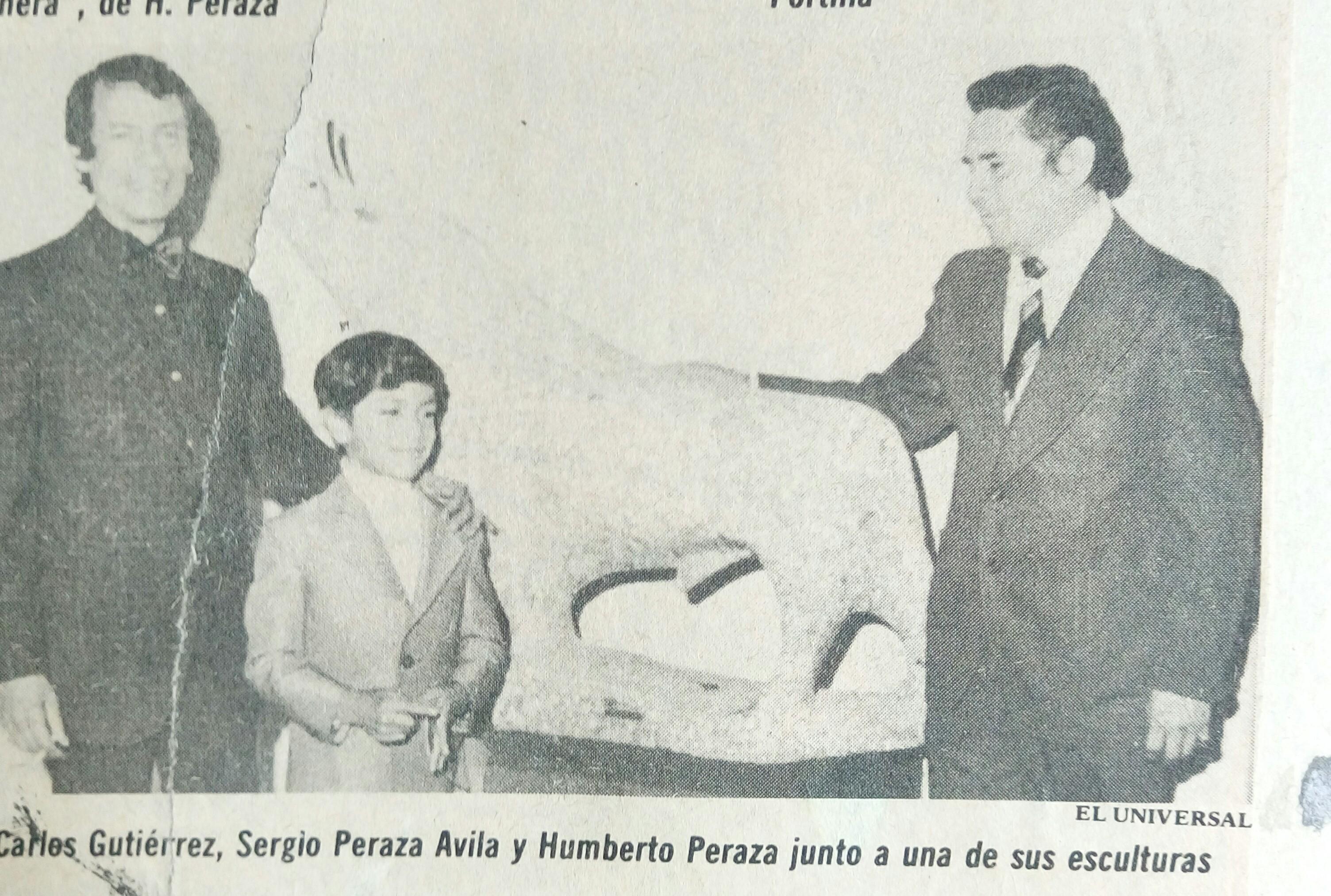Humberto y Sergio Peraza 1976