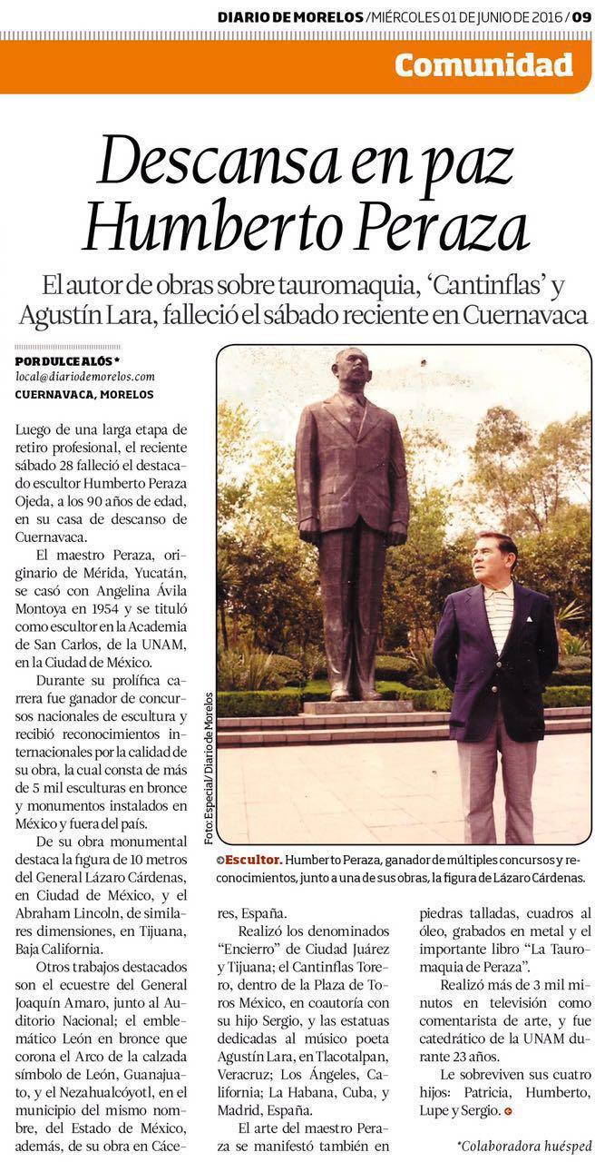 Descansa en Paz Humberto Peraza