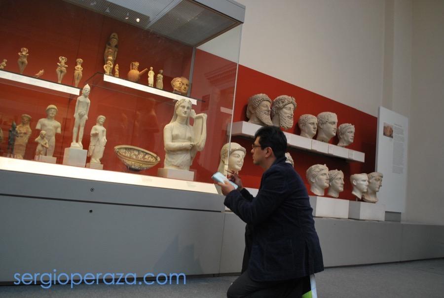 Dibujando en el British Museum en Londres