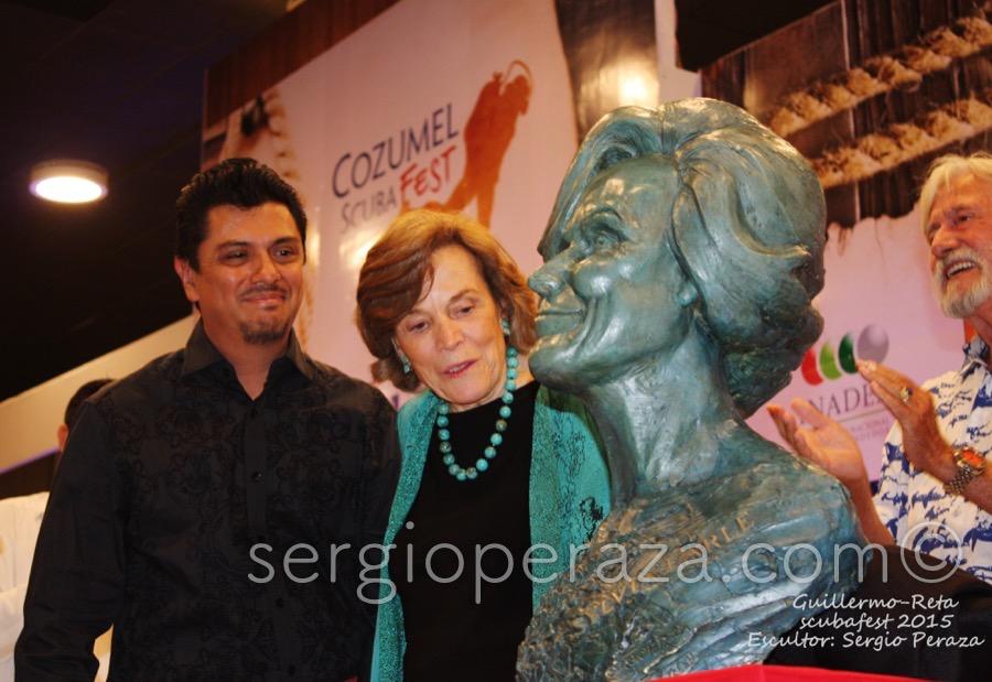 Develacion Busto Escultorico Sylvia Earle 7 Sergio Peraza Artista Escultor