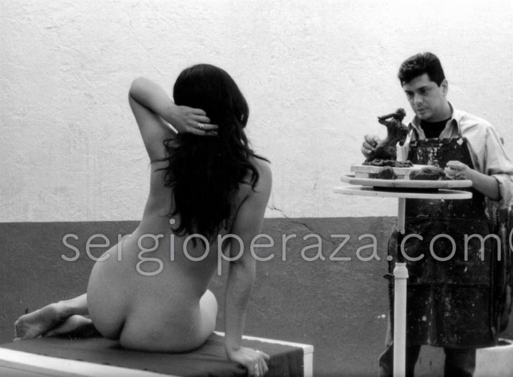modelando 2 Sergio Peraza Artista Escultor
